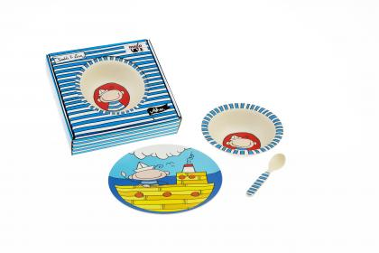 "Kinder-Set 3-tlg NATUR-DESIGN ""Ahoi"""