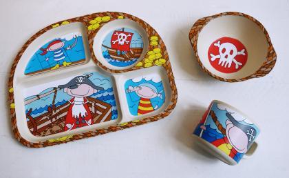 "Kinder-Set 3-tlg NATUR-DESIGN ""Pirat"""