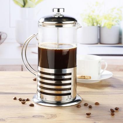 Pressfilterkanne Kaffeebereiter Glas/Edelstahl