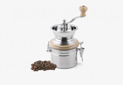 Karl Weis Kaffeemühle Edelstahl poliert