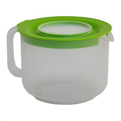 Mixerkanne 2l grün / orange mit Skala