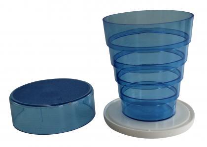 Klappbecher mit  Spiegel blau blau
