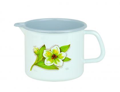 "Milchtopf m. Ausguß 10cm ""Flora"""