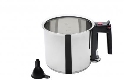 Wasserbadkocher Edelstahl Induktion 1,5l