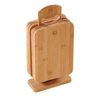 Brettchenständer 6 Brettchen Bambus