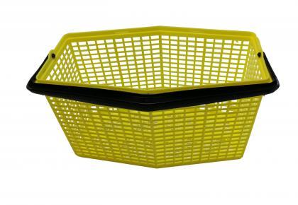 Klammerkorb 7 Liter gelb gelb