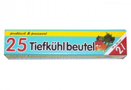 25 Stück Gefrierbeutel 2l
