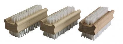 3 Stück Handbürste Nagelbürste Holz PPN