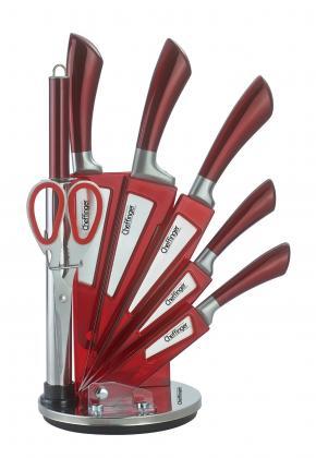 Messerset 7tlg rot m. Ständer