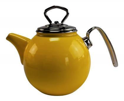 Schwerter Email Teekanne 1,5l gelb