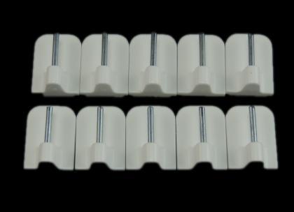 10 St. Scheibengardinenhaken weiß
