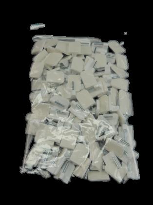 100 St. Scheibengardinenhaken weiß