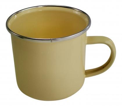 Emaille-Tasse 300ml gelb