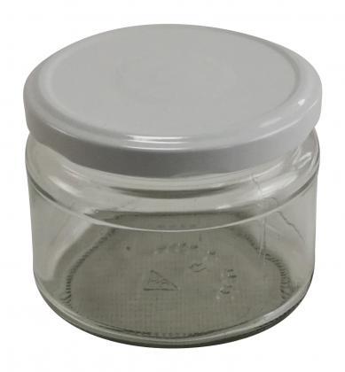 15 Stück Sturzglas 300ml mit Deckel 82mm