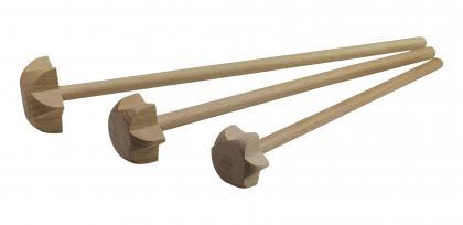 3 Stück Helo Holzquirle 22-26-30cm