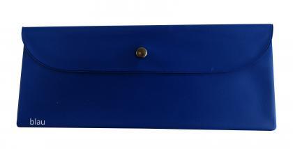 Bestecktasche Kunststofffolie blau blau