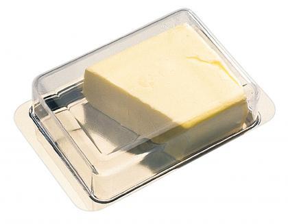 Kühlschrank-Butterdose Edelstahl/PS