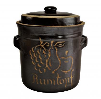 Rumtopf Steinzeugtopf 4l mit Deckel