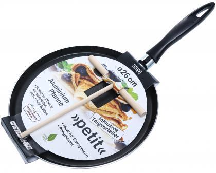 Omelett/Crepespfanne 26cm mit Verteiler