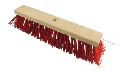 Straßenbesen 60cm PVC rot