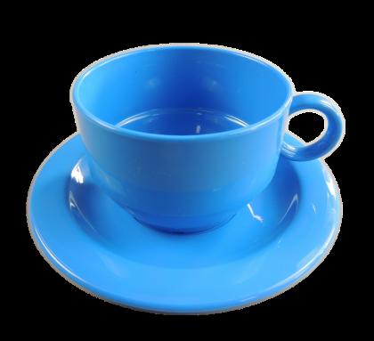 Waca Tasse 200ml mit Untertasse PP blau