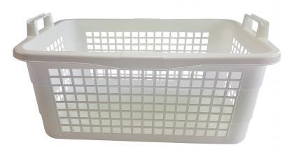 Wäschekorb 62cm weiß
