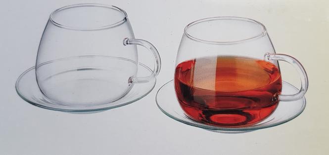 SIMAX 6er Set Teegläser mit Untertasse