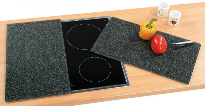 Glasschneideplatte 2- Pack Dekor Granit