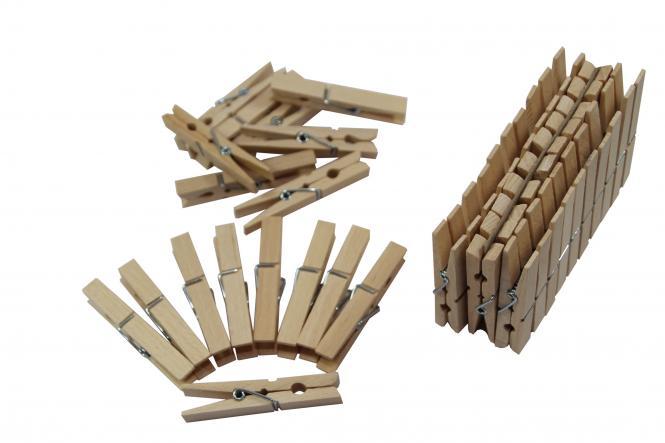 50St. Holz-Wäschelammern 72mm
