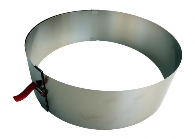 Tortenring mit Klemmhebel  Höhe 7cm