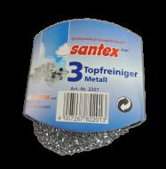 3 Stück Topfreiniger  Metall
