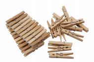 50 Stück Holzwäscheklammern