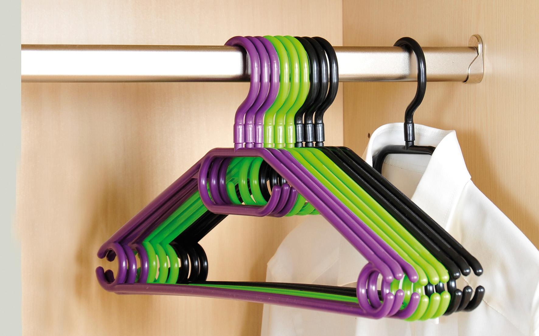 haushalt krausse 10 st ck kleiderb gel kunststoff online kaufen. Black Bedroom Furniture Sets. Home Design Ideas